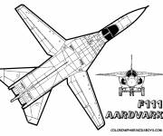 Coloring pages F111 Fighter Plane