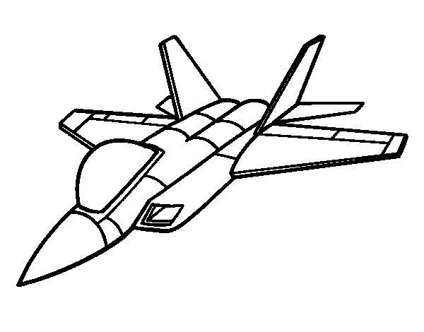 Free coloring and drawings Fighter plane drawing Coloring page