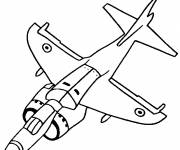 Coloring pages Fighter plane in black