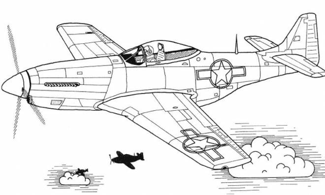 Free coloring and drawings Fighter plane on computer Coloring page