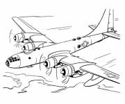 Coloring pages Four engine airplane