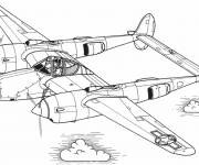 Coloring pages Illustration of an old airplane