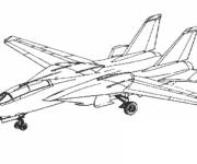 Coloring pages Maternal Fighter Plane