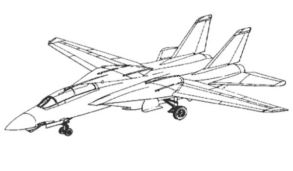 Free coloring and drawings Maternal Fighter Plane Coloring page