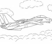 Coloring pages Military aircraft in action