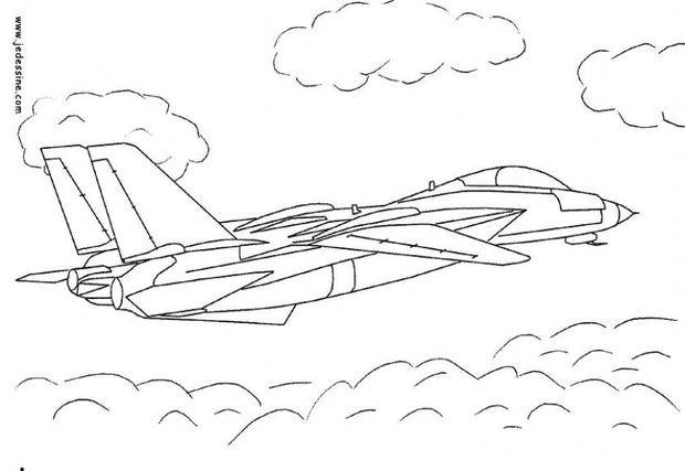 Free coloring and drawings Military aircraft in action Coloring page