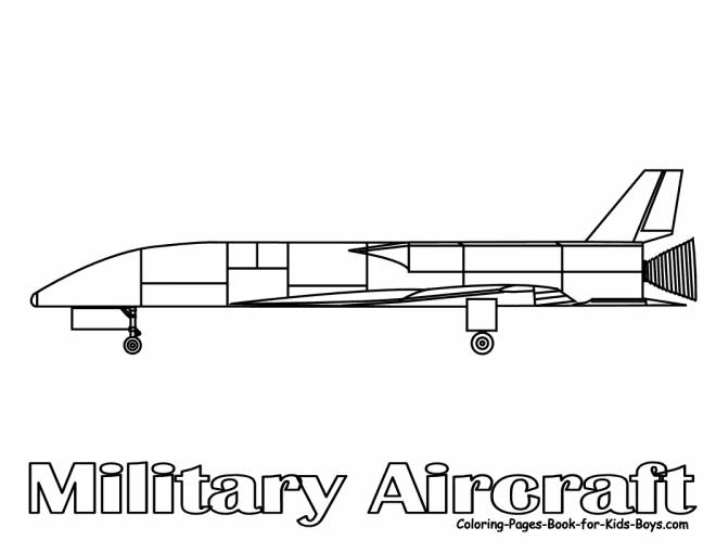 Free coloring and drawings Military Fighter Plane Coloring page