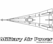 Coloring pages Military force aircraft