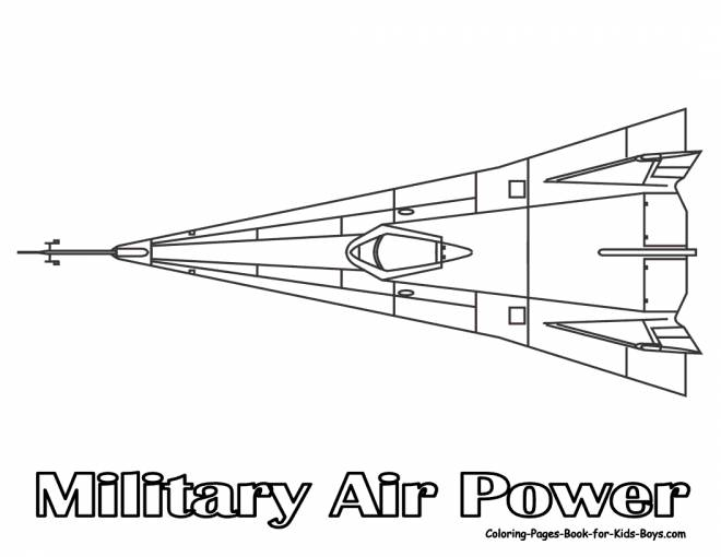 Free coloring and drawings Military force aircraft Coloring page