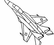 Coloring pages Modern Hunting Jet