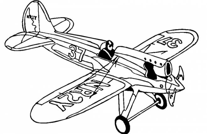 Free coloring and drawings NR2Y Fighter Plane Coloring page