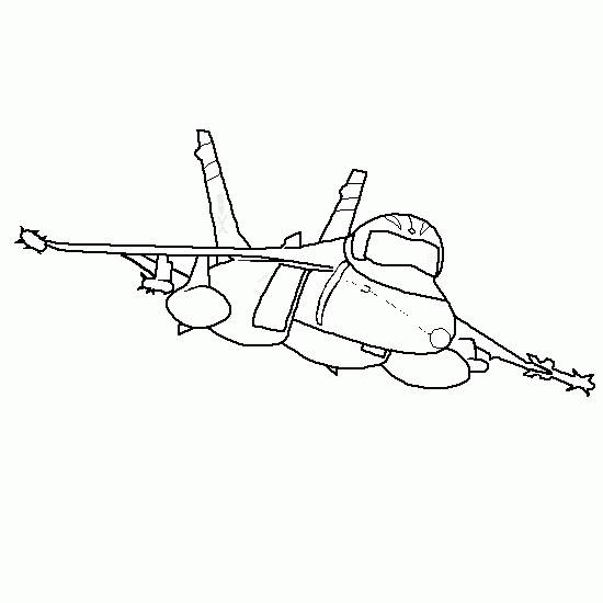 Free coloring and drawings Portrait of fighter plane Coloring page
