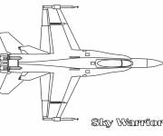 Coloring pages Sky Warrior Fighter Plane