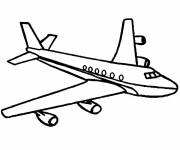 Coloring pages Stylized plane
