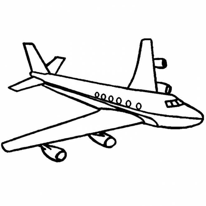 Free coloring and drawings Stylized plane Coloring page