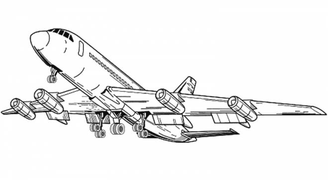 Free coloring and drawings Takeoff of an Airplane Coloring page