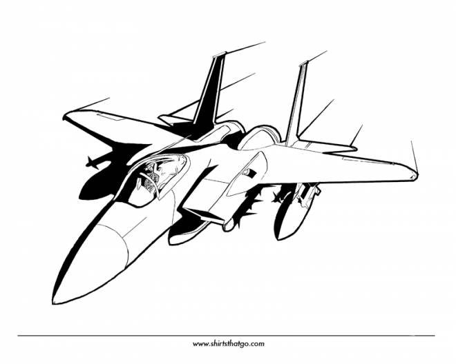 Free coloring and drawings Vector Fighter Plane Coloring page