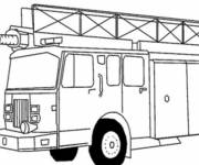 Coloring pages An American Fire Truck to be colored