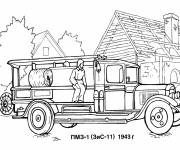 Coloring pages An old fire truck