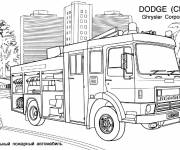 Free coloring and drawings Dodge Fire Truck Coloring page