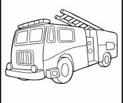 Coloring pages Fire truck for adults
