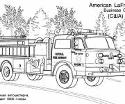 Coloring pages Fire truck France