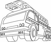 Coloring pages Fire truck front view