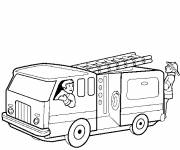 Free coloring and drawings Fire truck going to the fire Coloring page