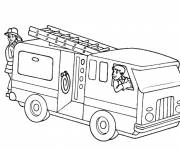 Coloring pages Fire truck on computer