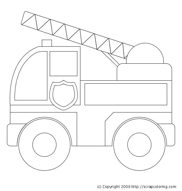 Free coloring and drawings Fire truck online Coloring page