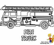 Free coloring and drawings Fire truck to decorate Coloring page