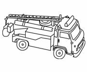 Free coloring and drawings Fire truck to download Coloring page