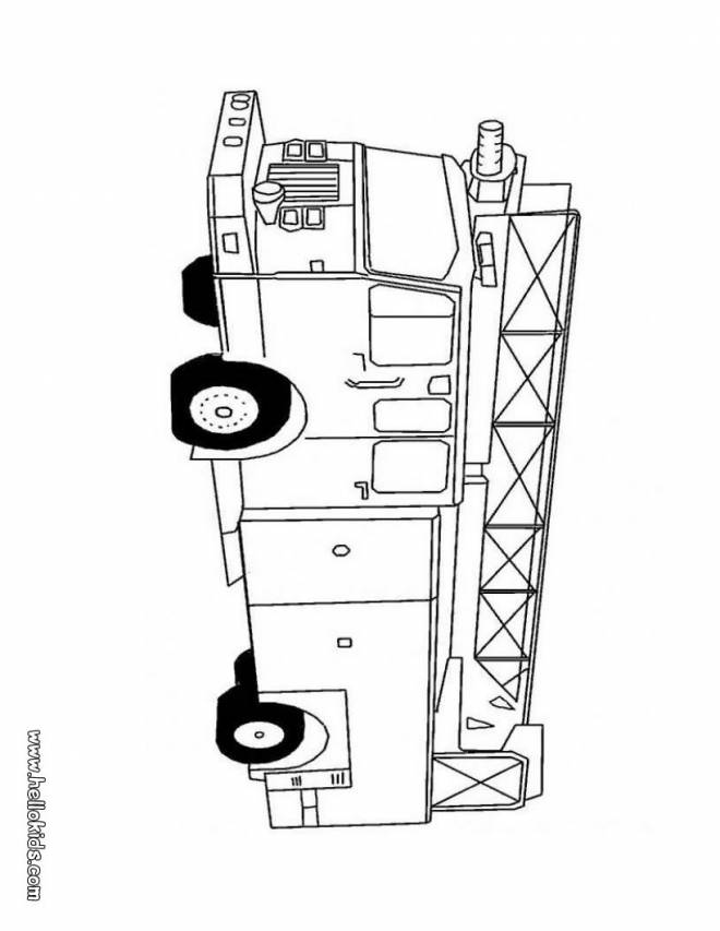 Free coloring and drawings Fire truck vehicle to decorate Coloring page