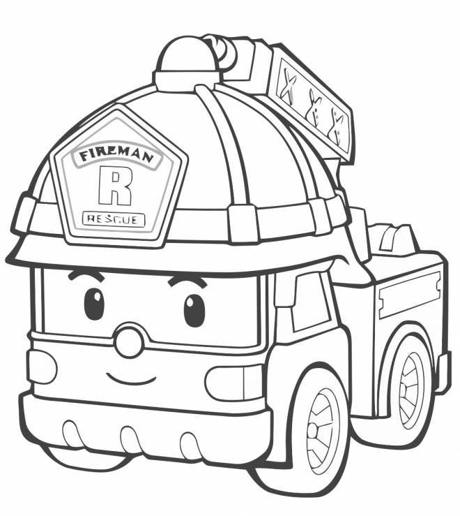 Free coloring and drawings  Fireman Truck Lego City Coloring page