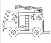 Coloring pages Ladder fire truck