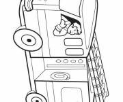 Coloring pages Maternal vector fire truck