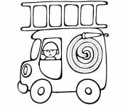 Coloring pages Mini Magic Fire Truck