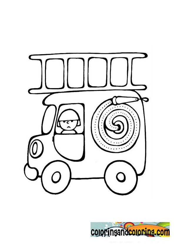 Free coloring and drawings Mini Magic Fire Truck Coloring page