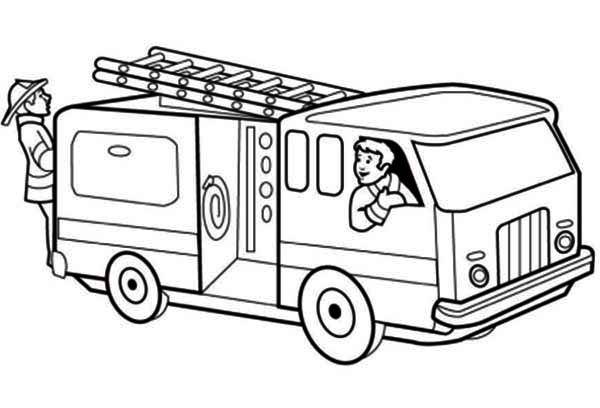 Free coloring and drawings practicing firefighters Coloring page