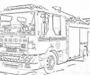 Coloring pages Realistic American Fire Truck