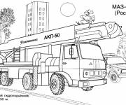 Free coloring and drawings Russian fire truck Coloring page