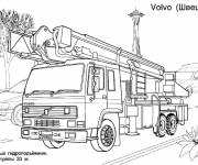 Free coloring and drawings Volvo fire truck Coloring page