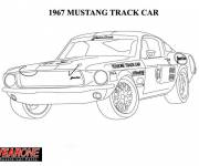 Coloring pages 1967 Ford Mustang car