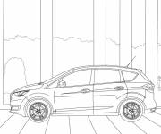 Coloring pages Auto Ford Focus stylized
