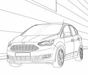 Coloring pages Auto Ford in color