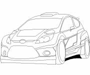 Coloring pages Auto Ford Rally