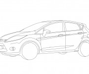 Coloring pages Auto Ford simple