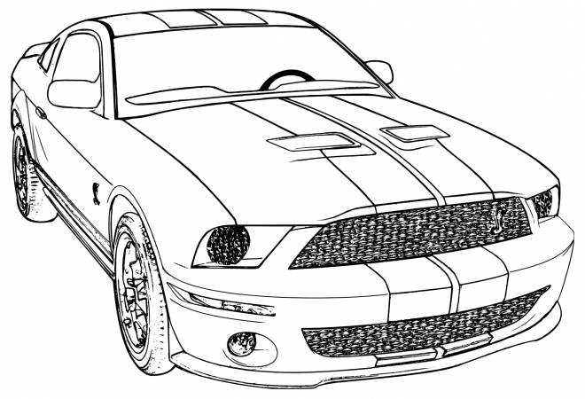 Free coloring and drawings Automobile Camaro color Coloring page