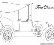 Coloring pages Classic Ford Auto