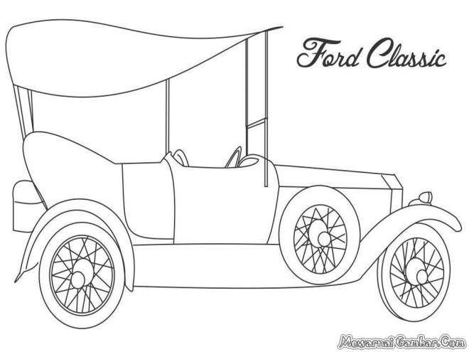 Free coloring and drawings Classic Ford Auto Coloring page